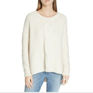 NWT Eileen Fisher Soft Boxy Cable Chunky Sweater